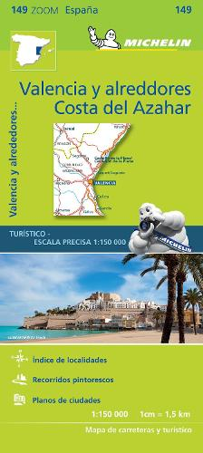 Valencia C.D. Azahar - Zoom Map 149: Map - Michelin Zoom Maps (Sheet map)