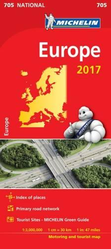 Europe 2017 National Map 705 - Michelin National Maps (Sheet map, folded)