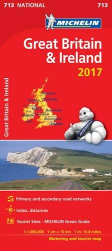 Great Britain 2017 & Ireland National Map 713 - Michelin National Maps (Sheet map, folded)