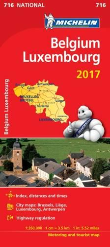 Belgium 2017 & Luxembourg National Map 716 - Michelin National Maps (Sheet map, folded)