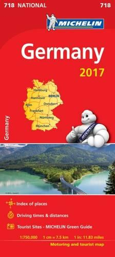 Germany 2017 National Map 718 - Michelin National Maps (Sheet map, folded)