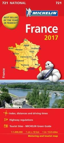 France 2017 National Map 721 - Michelin National Maps (Sheet map, folded)