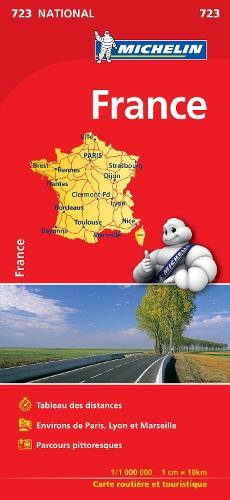 France (booklet format) - Michelin National Map 723: Map - Michelin National Maps (Sheet map)