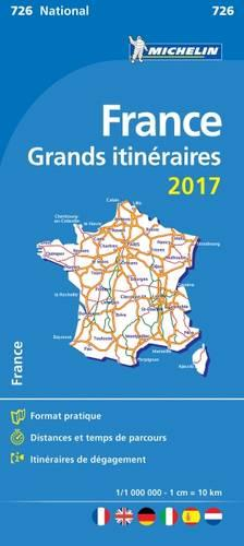 France Route Planning 2017 National Map 726 - Michelin National Maps (Sheet map, folded)