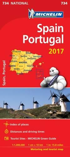 Spain & Portugal 2017 National Map 734 - Michelin National Maps (Sheet map, folded)