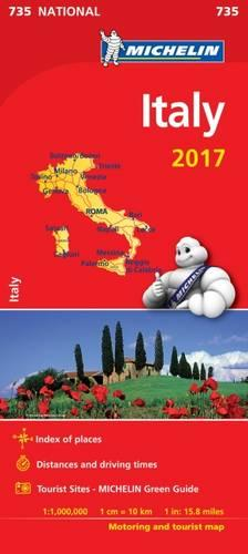 Italy 2017 National Map 735 - Michelin National Maps (Sheet map, folded)