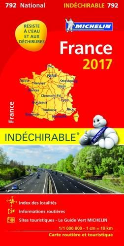 France 2017 - High Resistance National Map 792 - Michelin National Maps (Sheet map, folded)