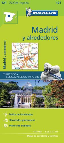 Madrid y alrededores - Zoom Map 121: Map - Michelin Zoom Maps (Sheet map)