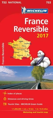 France - Reversible 2017 National Map 722 - Michelin National Maps (Sheet map, folded)
