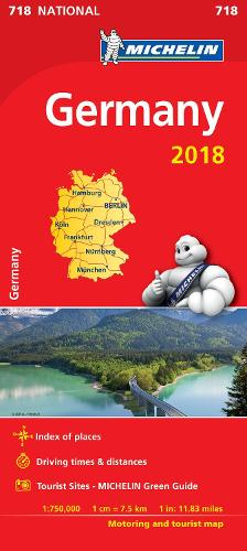 Germany 2018 National Map 718 2018 - Michelin National Maps (Sheet map, folded)