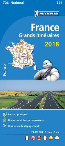 France Route Planning 2018 National Map 726 2018 - Michelin National Maps (Sheet map, folded)