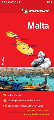 Malta - Michelin National Map 801 2018 - michelin national maps (Sheet map, folded)
