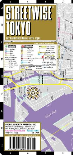 Streetwise Tokyo Map - Laminated City Center Street Map of Tokyo, Japan: City Plans - Michelin City Plans (Sheet map)