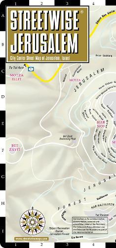 Streetwise Jerusalem Map - Laminated City Center Street Map of Jerusalem, Israel - Michelin Streetwise Maps (Sheet map, folded)