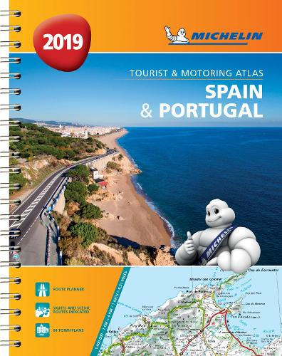 Spain & Portugal 2019 - Tourist and Motoring Atlas (A4-Spirale): Tourist & Motoring Atlas A4 spiral - Michelin Road Atlases (Spiral bound)