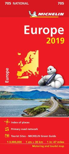 Europe 2019 - Michelin National Map 705: Map - Michelin National Maps (Sheet map)