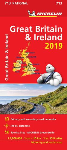 Great Britain & Ireland 2019 - Michelin National Map 713: Map - Michelin National Maps (Sheet map)