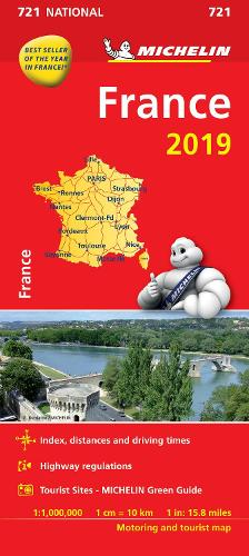 France 2019 - Michelin National Map 721: Map - Michelin National Maps (Sheet map)