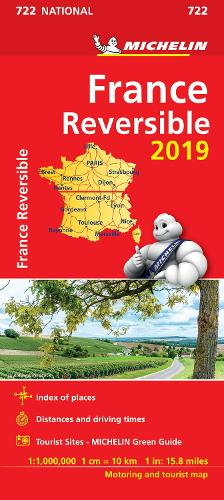 France - reversible 2019 - Michelin National Map 722: Map - Michelin National Maps (Sheet map)