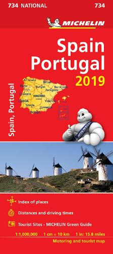Spain & Portugal 2019 - Michelin National Map 734: Map - Michelin National Maps (Sheet map)