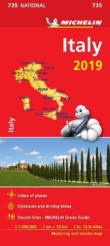 Italy 2019 - Michelin National Map 735: Map - Michelin National Maps (Sheet map)