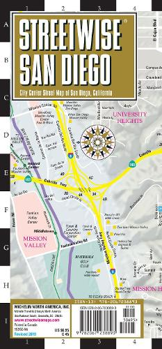 Streetwise Map San Diego- Laminated City Center Street Map of San Diego: City Plans - Michelin City Plans (Sheet map)