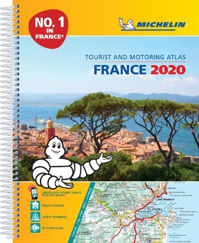 France 2020 -A4 Tourist & Motoring Atlas: Tourist & Motoring Atlas A4 spiral - Michelin Road Atlases (Spiral bound)