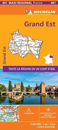 GRAND-EST, France - Michelin Regional Map 601: Map - Michelin Regional Maps (Paperback)