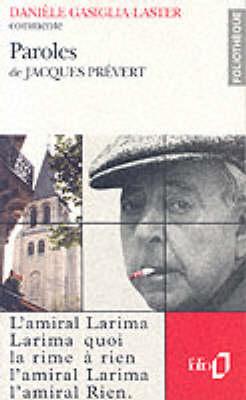 Foliotheque: Prevert: Paroles (Paperback)