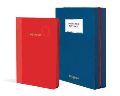 Parisian Chic Notebook (red, large)