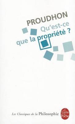 Qu'est-ce que la propriete (Paperback)