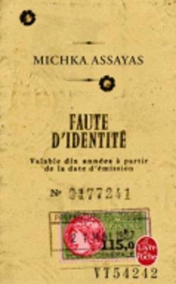 Faute d'identite (Paperback)