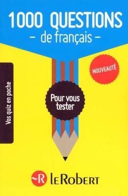 1000 Questions De Francais (Paperback)