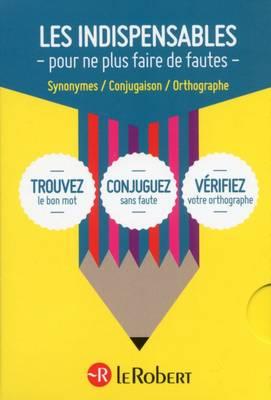 Coffret Mini Langue Francaise Ortographe, Conjugaison et Synonymes: Les Indispensables in 3 Volumes (Paperback)
