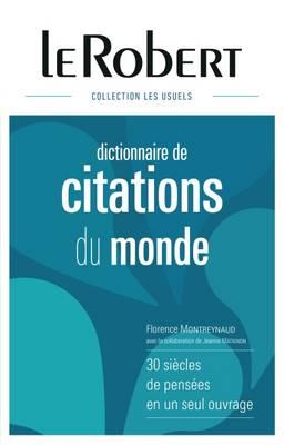 Dictionnaire: Citations Du Monde