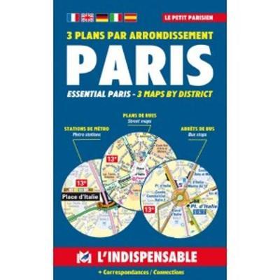 Plans de Paris: Paris street index and maps: Paris pratique par arrondissement (Paperback)