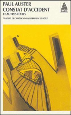 Constat D'Accident ET Autres Textes (Paperback)