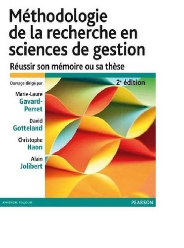 Methodologie de la recherche (Paperback)