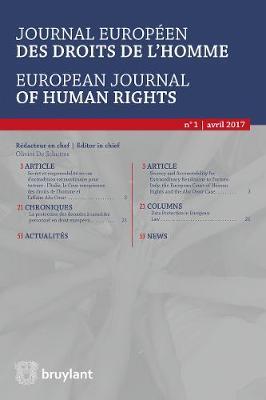Journal europeen des droits de l'homme / European Journal of Human Rights 2017/1 - Journal europeen des droits de l'homme / European Journal of Human Rights 1 (Paperback)