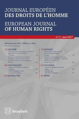 Journal europeen des droits de l'homme / European Journal of Human Rights 2017/2 - Journal europeen des droits de l'homme / European Journal of Human Rights 2 (Paperback)