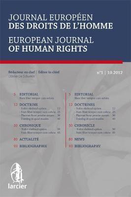 Journal Europeen des Droits de l'Homme / European Journal of Human Rights 2013 - Journal Europeen des Droits de l'Homme / European Journal of Human Rights 5 (Paperback)
