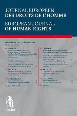 Journal Europeen des Droits de l'Homme / European Journal of Human Rights 2015 - Journal Europeen des Droits de l'Homme / European Journal of Human Rights 5 (Paperback)