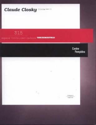 Claude Closky: Espace 314 (Paperback)
