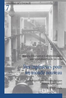 Des ingenieurs pour un monde nouveau: Histoire des enseignements electrotechniques (Europe, Ameriques) - XIXe-XXe siecle - Histoire de l'energie/History of Energy 7 (Paperback)
