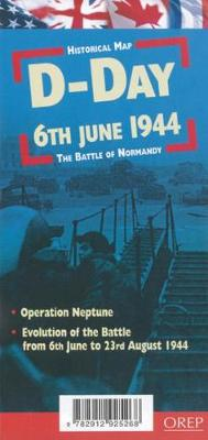 D-Day 6th June 1944 - the Battle of Normandy - Historical Map (Sheet map)