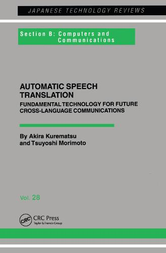 Automatic Speech Translation (Paperback)