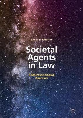 Societal Agents in Law: A Macrosociological Approach (Hardback)