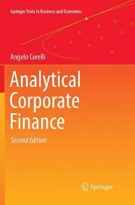 Analytical Corporate Finance - Springer Texts in Business and Economics (Paperback)