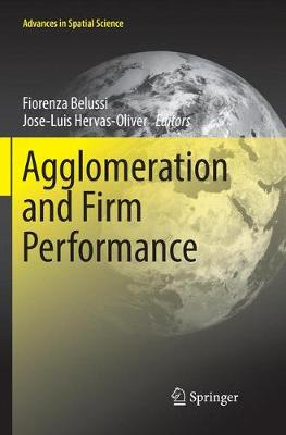 Agglomeration and Firm Performance - Advances in Spatial Science (Paperback)