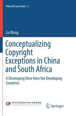 Conceptualizing Copyright Exceptions in China and South Africa: A Developing View from the Developing Countries - China-EU Law Series 6 (Paperback)